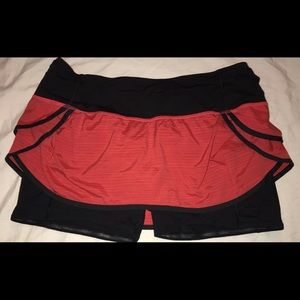 Lululemon run speed squad skirt size 10